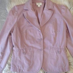 Loft dusty lilac blazer